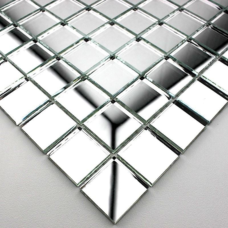 Mosaique verre carrelage effet miroir reflect neutre ebay for Carrelage effet miroir