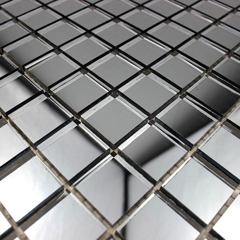 Détails sur mosaique verre carrelage effet miroir REFLECT GRIS