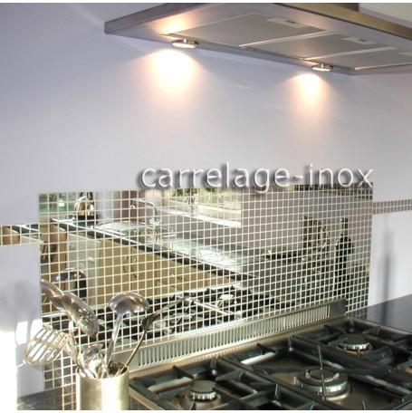 Tole inox cuisine credence mosaique cm miroir 25 ebay - Plaque d inox pour cuisine ...