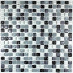Carrelage mosaique verre salle de bain douche OPUS NOIR