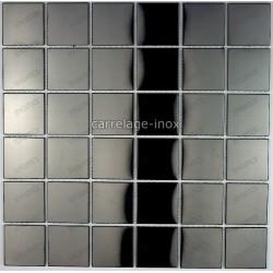 carrelage inox mosaique inox credence cm-regular noir