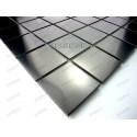 carrelage inox mosaique inox 1 plaque REGULAR NOIR