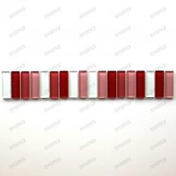 frise en verre mosaique LIFT ROUGE