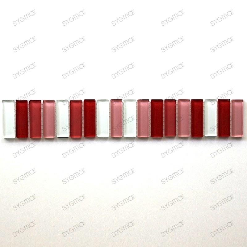 frise en verre mosaique lift rouge carrelage mosaique. Black Bedroom Furniture Sets. Home Design Ideas