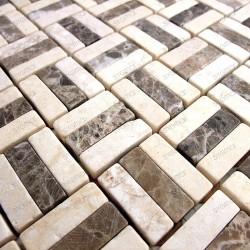 Mosaique carrelage pierre marbre 1 plaque BODEGA