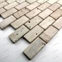Mosaique carrelage pierre marbre 1 plaque SALVADORE BRIQUE