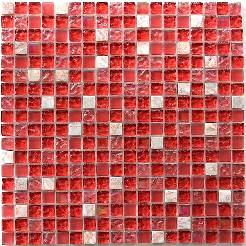 Mosaique salle de bain modele prado carrelage mosaique for Carrelage mosaique rouge