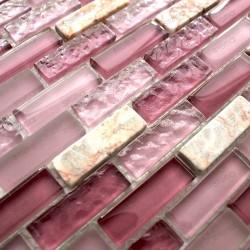 carrelage mosaique pierre et verre modele Rossi Brique