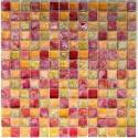 Tile mosaic glass shower bathroom and backsplash Arezo Orange