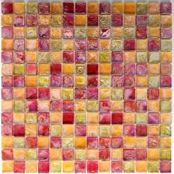 mosaico ducha vidrio mosaic baño frente cocina zenith orange