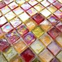 mosaico ducha vidrio mosaic baño muro cocina Arezo Orange