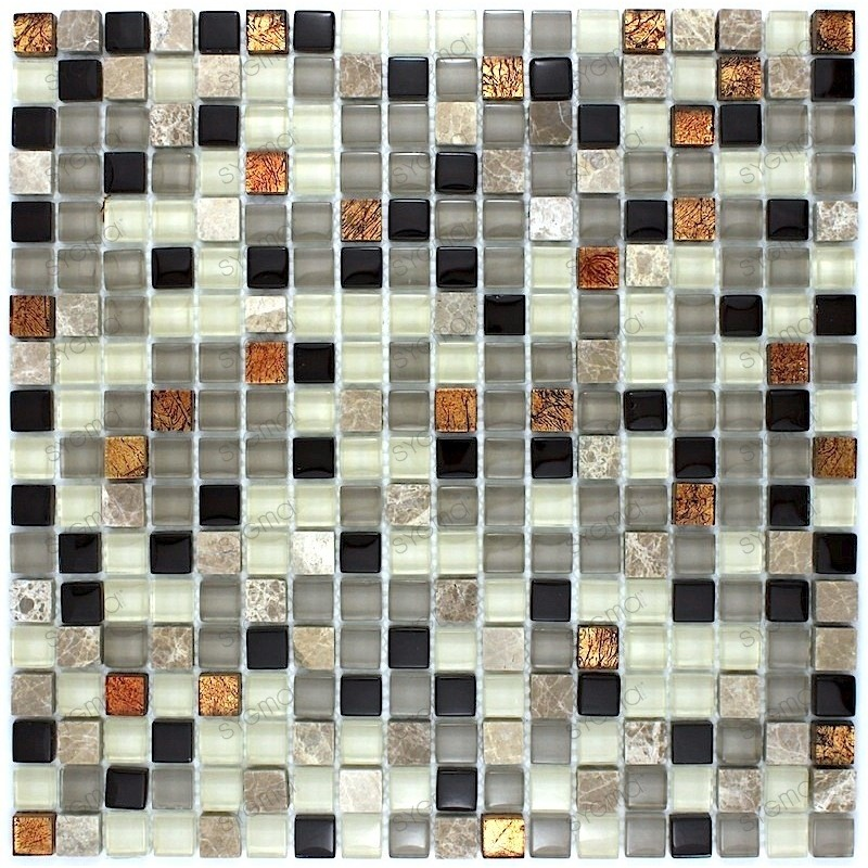 Tile mosaic glass and stone plate 1 HAVANA