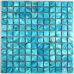 Azulejo modelo madreperla mosaico azul NACRE23