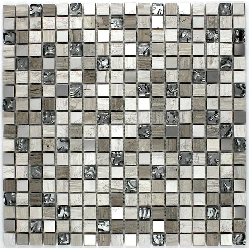 Mosaique carrelage pierre 1 plaque SALVADORE 15