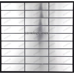 carrelage inox mosaique 1 plaque RECTANGULAR98