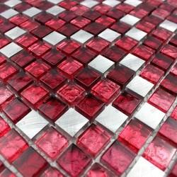 mosaique aluminium et verre credence cuisine cm-slot-rouge