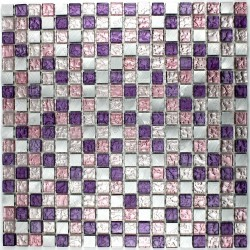 aluminium and glass splashback kitchen cm-slot-purple mosaic