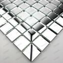 mosaique verre carrelage effet miroir Optic neutre