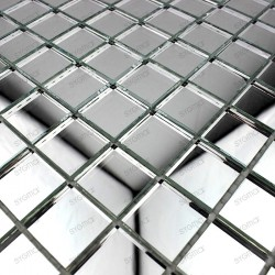 Mosaic glass tile mirror effect model Optic Neutre