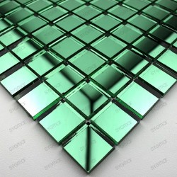 mosaique verre carrelage effet miroir REFLECT VERT