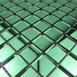 Mosaic glass tile mirror REFLECT green effect