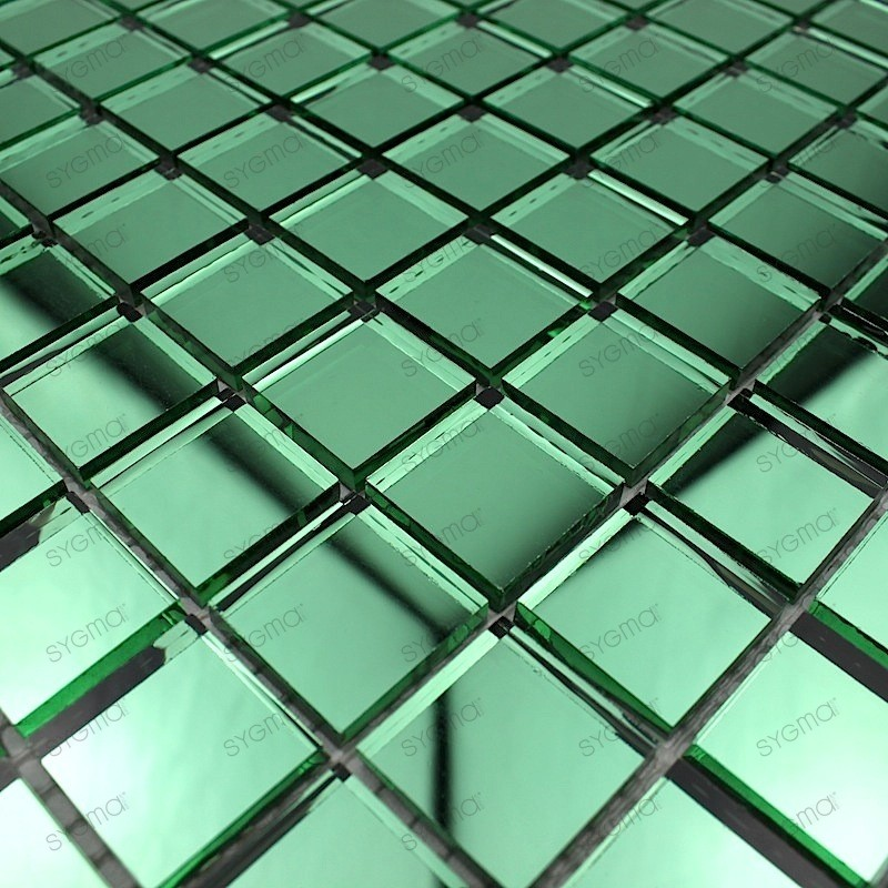 mosaique verre carrelage effet miroir reflect vert carrelage mosaique. Black Bedroom Furniture Sets. Home Design Ideas