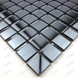 Mosaique verre carrelage effet miroir reflect gris - Carrelage effet mosaique ...