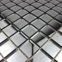 mosaique verre carrelage effet miroir REFLECT GRIS
