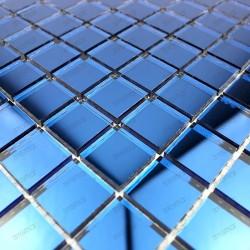mosaique verre carrelage effet miroir 1 plaque REFLECT ECRU