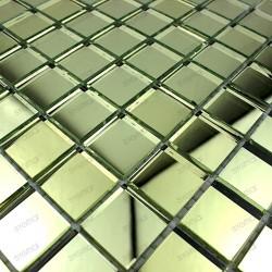 Mosaic glass tile mirror REFLECT GOLD effect