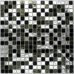 bathroom mosaic tiles shower GLOSS NERO