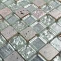 carrelage pierre et verre mosaique METALLIC SILVER