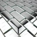 mosaique verre carrelage effet miroir Cristal