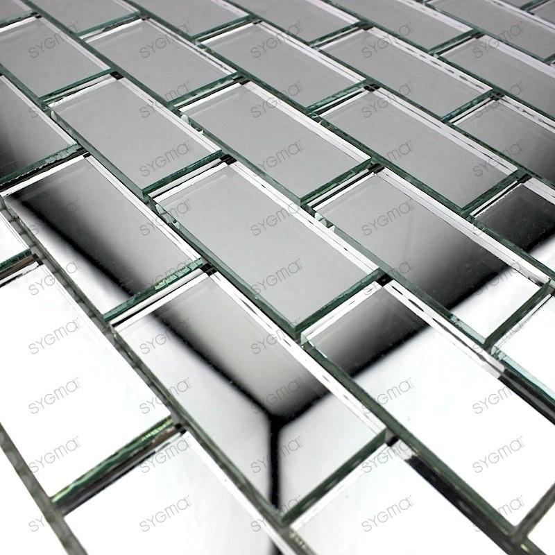 Mosaic glass tile mirror Cristal