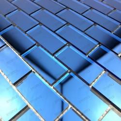 Mosaic wall bathroom mirror REFLECT brick marine