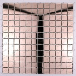 mosaico vidrio, frente cocina, ducha mosaico, mosaico baño reflect rose