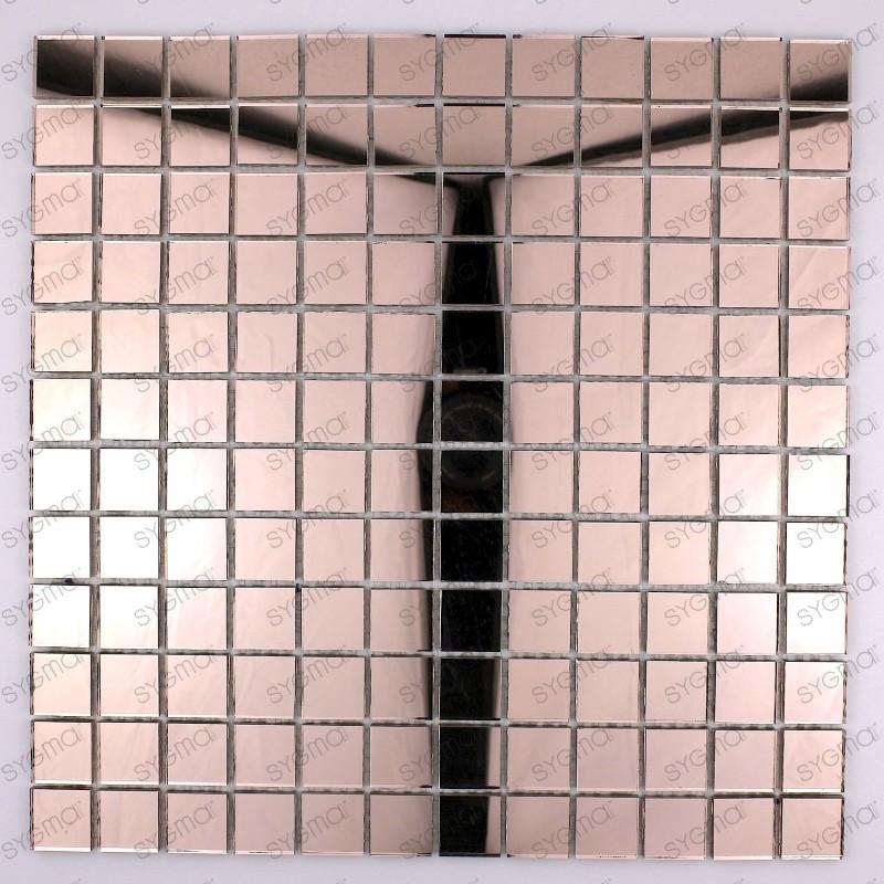 mosaique verre carrelage effet miroir REFLECT ROSE
