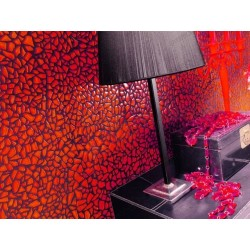 Tile glass mosaic floor and wall osmosis Red