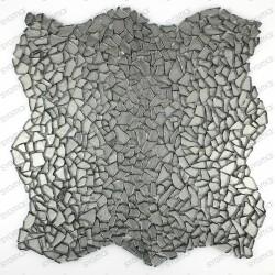 Tile glass mosaic floor and wall osmosis CHROME