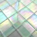 mosaique verre carrelage blanc irisé MURANO48