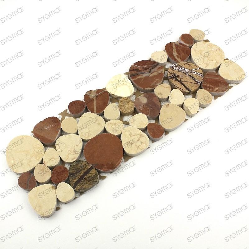 marble border of roller model luna brown carrelage mosaique. Black Bedroom Furniture Sets. Home Design Ideas