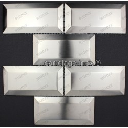 Tile wall stainless steel Backsplash Metro Acier