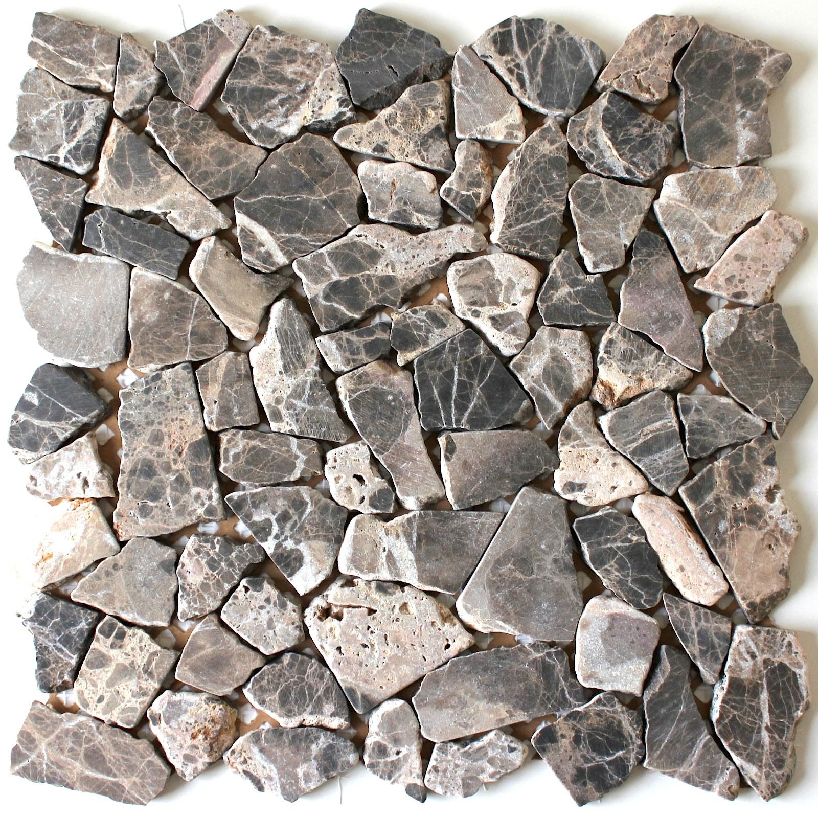 Carrelage En Galets Salle De Bain galets en pierre special sol sygma gris - carrelage-mosaique