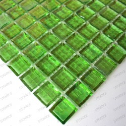 mosaïque de verre modèle CRYSTAL VERT