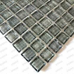 mosaïque de verre modèle CRYSTAL GRIS