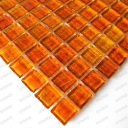mosaïque de verre modèle CRYSTAL ORANGE