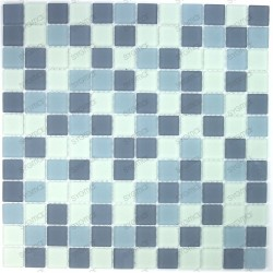 Mosaic tiles glass 1 plate MAT grey