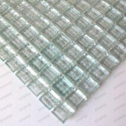 mosaïque de verre modèle CRYSTAL NEUTRE