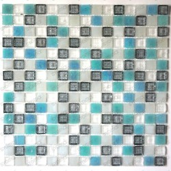 mosaïque de verre plaque mosaique douche CRYSTAL HOLLY
