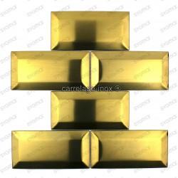 carrelage mur crédence inox plaque inox cm-metro gold